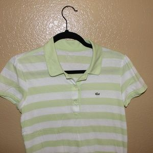 Lacoste striped polo shirt